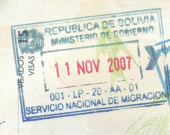 Bolivia salida verde
