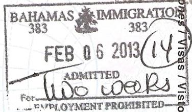 Inmigración: Bahamas (Cortesía: Patricio Nogueira)