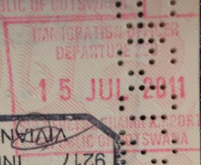 Emigración: Aeropuerto Internacional Sir Seretse Khama de Gaborone, Botswana