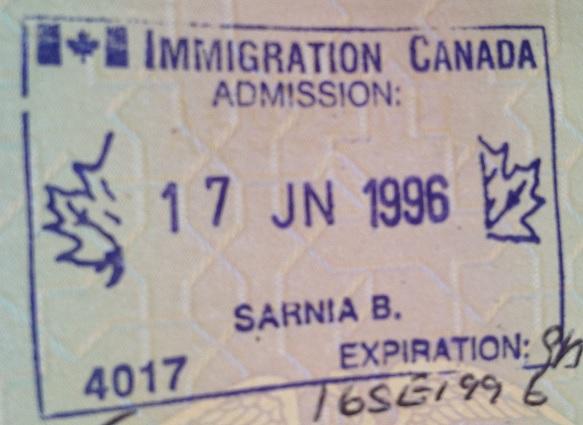 Inmigración: Puesto fronterizo de Sarnia, Canadá