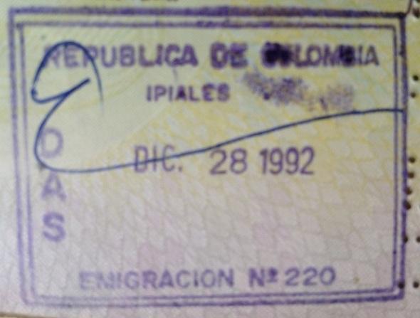 Emigración: Puesto fronterizo de Ipiales Colombia
