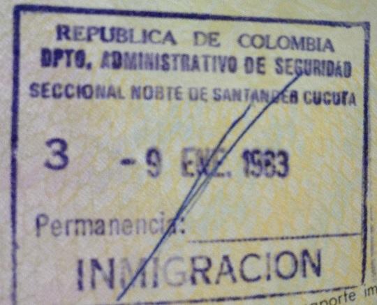 Emigración: Puesto fronterizo de Cúcuta, Colombia