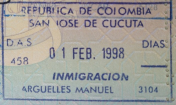 Inmigración: Puesto fronterizo de Cúcuta, Colombia