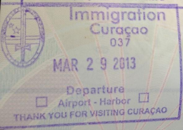 Emigración: Aeropuerto Internacional Hato de Curaçao