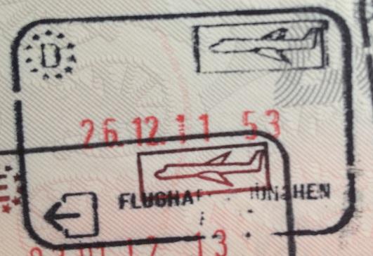 Emigración: Aeropuerto Internacional de Múnich, Alemania