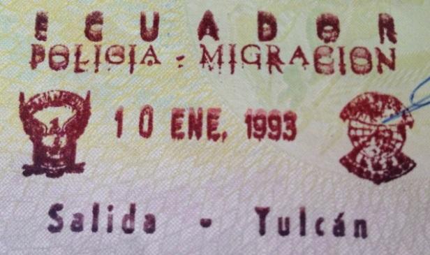 Emigración: Puesto fronterizo de Tulcán, Ecuador