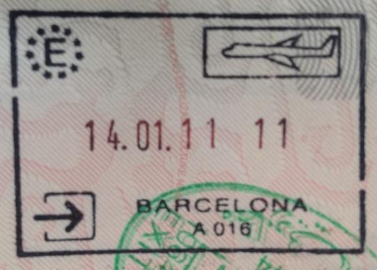 Inmigración: Aeropuerto Internacional El Prat de Barcelona, España