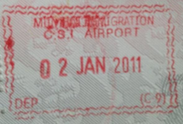 Emigración: Aeropuerto Internacional Chhatrapati Shivaji de Bombay, India