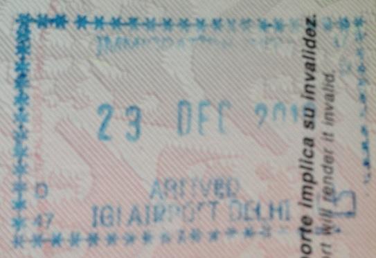 Inmigración: Aeropuerto Internacional Indira Ghandi de Nueva Delhi, India