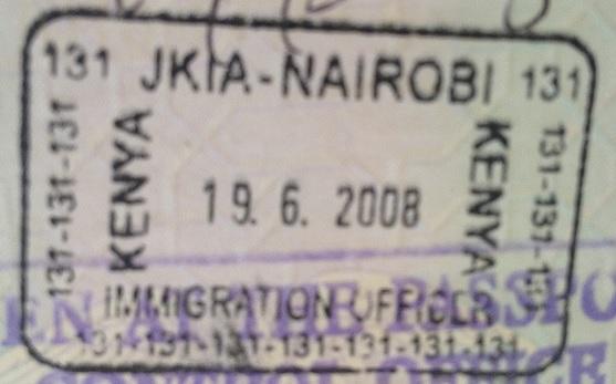 Inmigración: Aeropuerto Internacional Jomo Kenyatta de Nairobi, Kenya