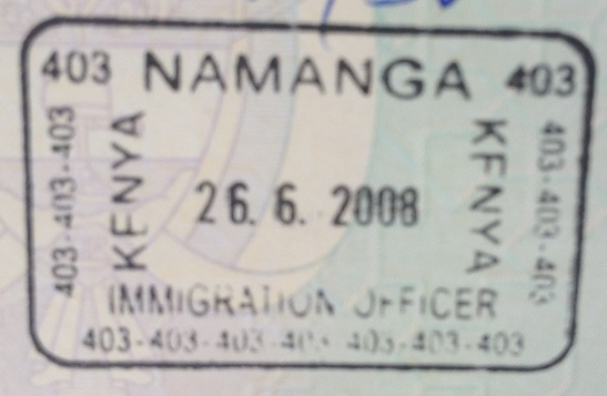 Inmigración: Puesto fronterizo de Namanga, Kenya