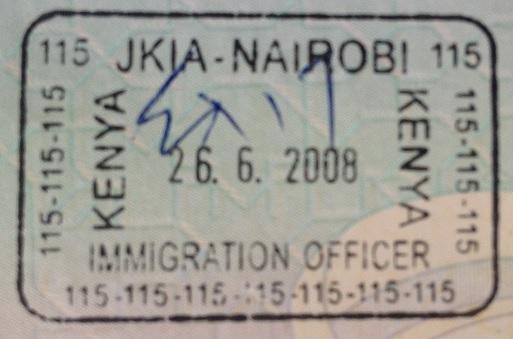 Emigración: Aeropuerto Internacional Jomo Kenyatta de Nairobi, Kenya