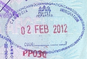 Emigración: Puesto fronterizo de Poi Pet, Cambodia (Cortesía: Patricio Nogueira)