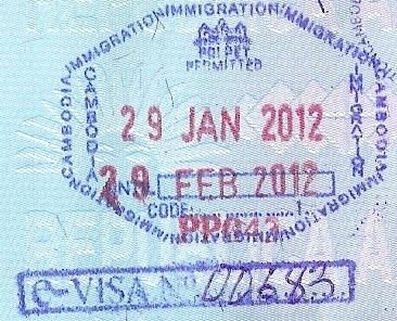 Inmigración: Puesto fronterizo de Poi Pet, Cambodia (Cortesía: Patricio Nogueira)