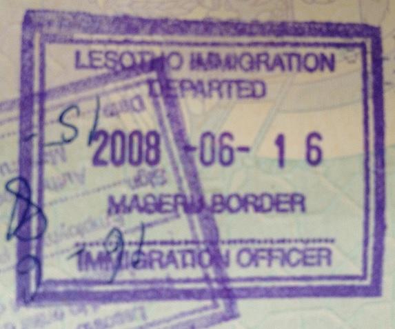 Emigración: Puesto fronterizo de Maseru Bridge en Maseru, Lesotho