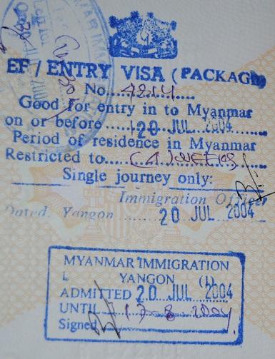 Inmigración: Aeorpuerto Internacional de Rangún, Myanmar (Cortesía: Luis Miguel Barquillo)