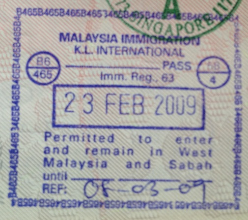 Inmigración: Aeropuerto Internacional de Kuala Lumpur, Malasia