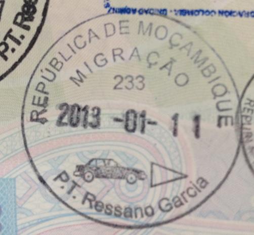 Inmigración: Puesto fronterizo de Ressano García, Mozambique