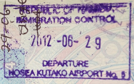 Emigración: Aeropuerto Internacional Hosea Kutako de Windhoek, Namibia