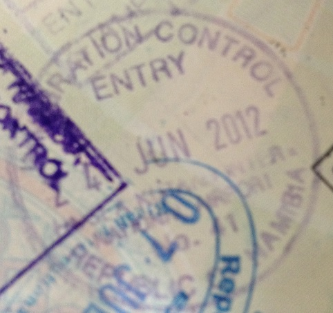 Inmigración: Aeropuerto Internacional Hosea Kutako de Windhoek, Namibia