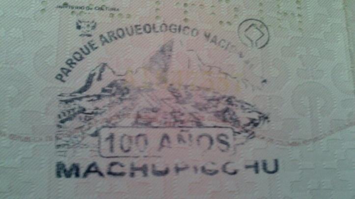 Sello de Machu Picchu (Cortesía: Aviación y Turismo)
