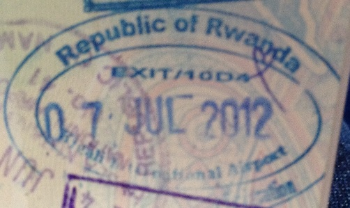 Emigración: Aeropuerto Internacional de Kigali, Rwanda