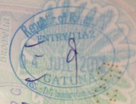 Inmigración: Puesto fronterizo de Gatuna, Rwanda