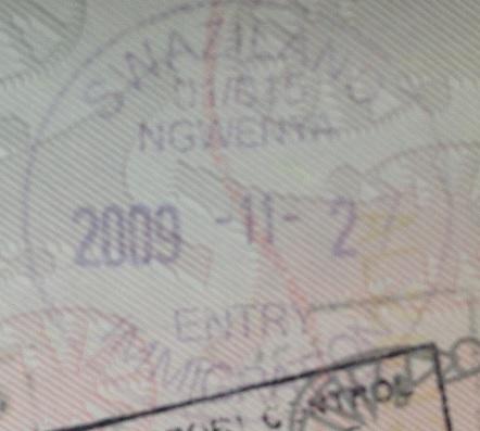 Inmigración: Puesto fronterizo de Ngwenya, Swazilandia