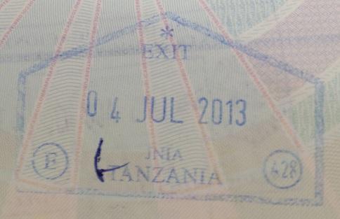 Emigración: Aeropuerto Internacional Julius Nyerere de Dar es Salaam, Tanzania