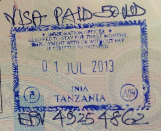Inmigración: Aeropuerto Internacional Julius Nyerere de Dar es Salaam, Tanzania
