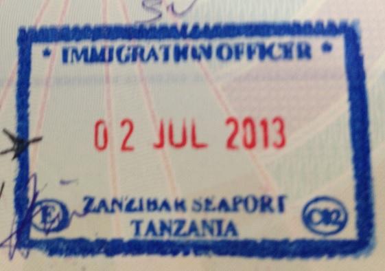 Inmigración: Puerto marítimo de Zanzíbar, Tanzania
