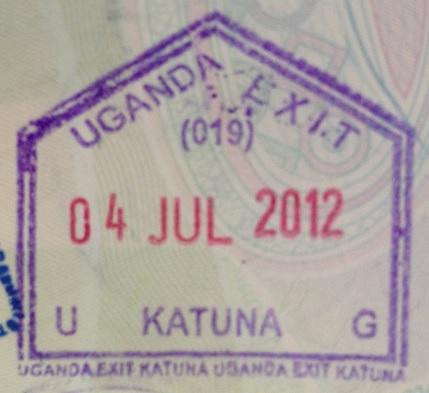 Emigración: Puesto fronterizo de Katuna, Uganda