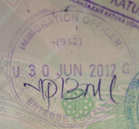 Inmigración: Aeropuerto Internacional de Entebbe, Uganda