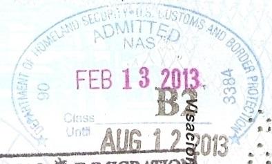 Inmigración: Aeropuerto Internacional de Nassau, Bahamas (EEUU hace el control migratorio desde Canadá antes de abordar el vuelo) (Cortesía: Patricio Nogueira)