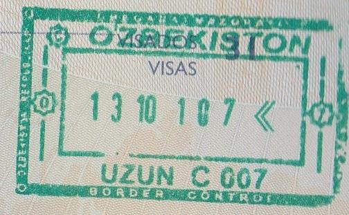Emigración: Puerto fronterizo de Uzun, Uzbekistán (Cortesía: Juan Carlos Herrera)