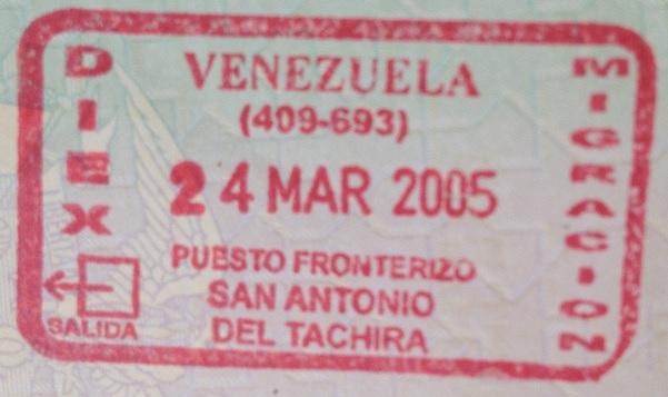 Emigración: Puesto fronterizo de San Antonio del Táchira, Venezuela