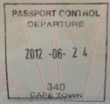 Emigración: Aeropuerto Internacional de Ciudad del Cabo, Sudáfrica