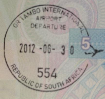Emigración: Aeropuerto Internacional OR Tambo de Johannesburgo, Sudáfrica