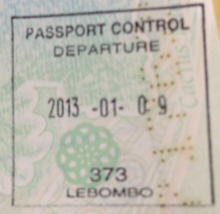 Emigración: Puerto fronterizo de Lebombo, Sudáfrica