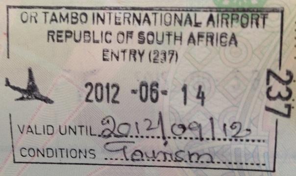 Inmigración: Aeropuerto Internacional OR Tambo de Johannesburgo, Sudáfrica
