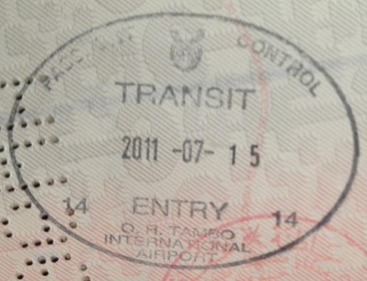 Tránsito: Aeropuerto Internacional OR Tambo de Johannesburgo, Sudáfrica