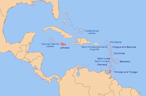 Mapa de la Federación de las Indias Occidentales (Fuente)