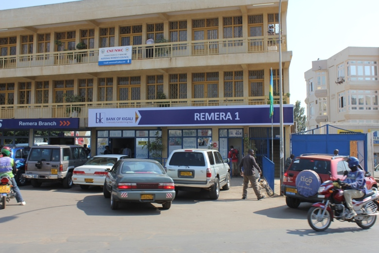 Bancos en la zona de Remera en Kigali