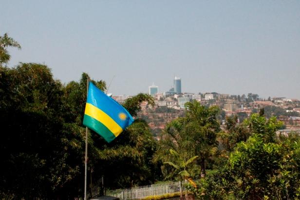 Centro de Kigali visto desde el Memorial del Genocidio