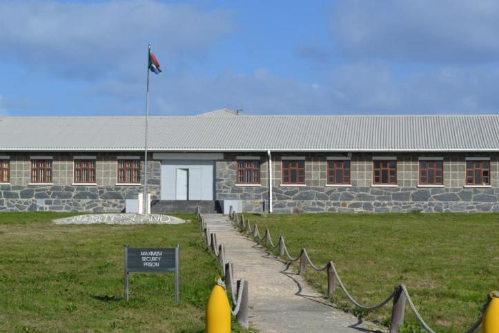Entrada a la cárcel de máxima seguridad en Robben Island