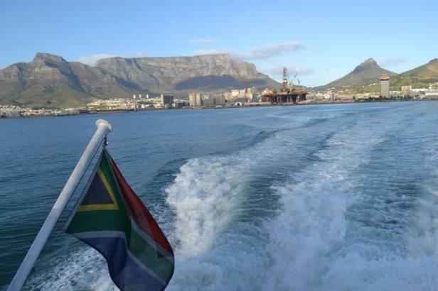 Ciudad del Cabo vista desde el ferry a Robben Island