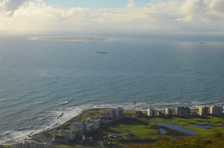 Robben Island vista desde Ciudad del Cabo