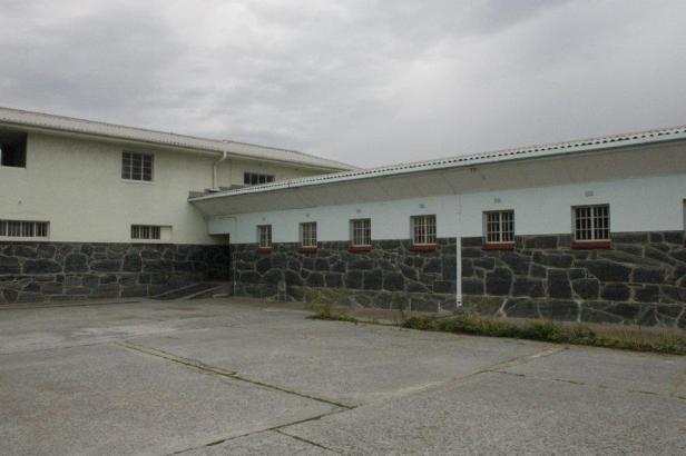 Patio en la cárcel de Robben Island