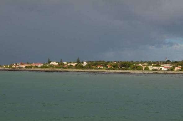 Robben Island vista desde el ferry