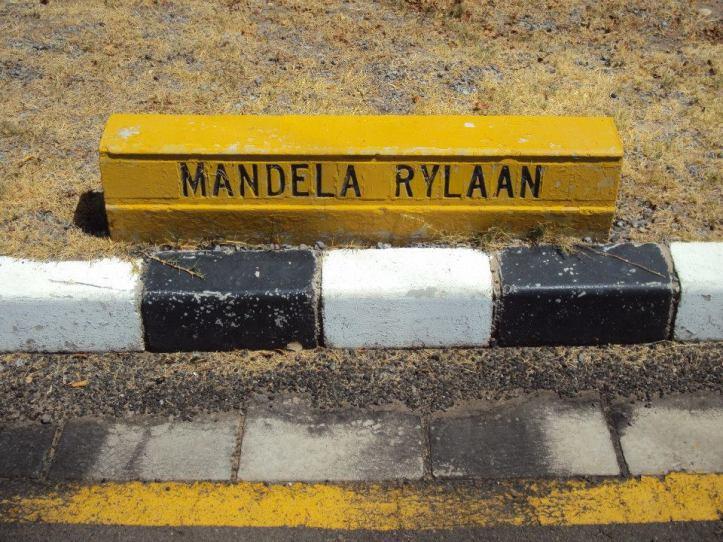 Calle Nelson Mandela en la Prisión Víctor Verster